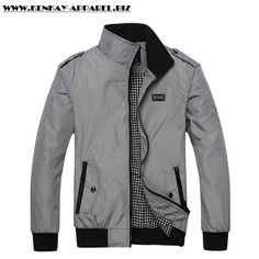 Solid Outerwear Men Casual Jacket
