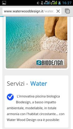 Water Wood Design versione mobile  Mobile view