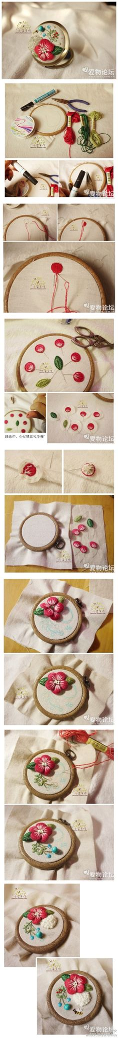 How To 3d Flowers Embroidery (stumpwork)