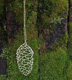 Gold Pine Cone Necklace by Biodidactic on Scoutmob Shoppe
