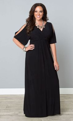 #plussize #black #maxidress at Curvalicious Clothes Coastal Cold Shoulder Dress - Black Trendy Curvy | Plus Size Fashion | Fashionista | Shop online at http://www.curvaliciousclothes.com TAKE 15% OFF Use code: SVE15 at checkout