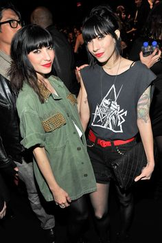 Jessica Origliasso Singers Lisa Origliasso and Jessica Origliasso of The Veronica's attend the L.A.M.B. Fall 2011 fashion show during Mercedes-Benz Fashion Week at The Theatre at Lincoln Center on February 17, 2011 in New York City.