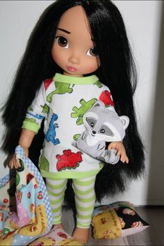 Pocahontas is ready for a slumber party.Disney Animators Collection