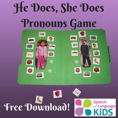 He Does, She Does Pronoun Game