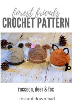 Adorable crochet hat pattern. From newborn size to adult. #crochethat #crochetpattern #affiliate