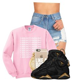 """Hotline Bling- Drake"" by pinkswagg15 ❤ liked on Polyvore featuring moda, Michael Kors y Casetify"