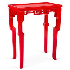 Check out this item at One Kings Lane! Bess Side Table, Red