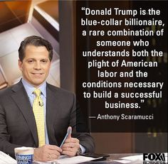 Trump knows how to create jobs and relate to everyone at all levels in a business! Vote Trump! Jobs! Jobs! Jobs!
