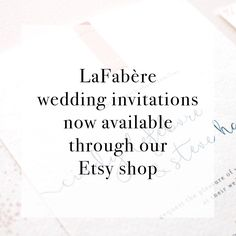 Ottawa wedding invitation lafabere order hereg lafabere were happy to announce our custom wedding invitation design services are now available trough stopboris Choice Image