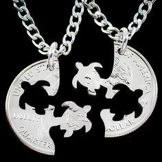 (Gifts for Best Friends) - Couple Coin Colar Necklace