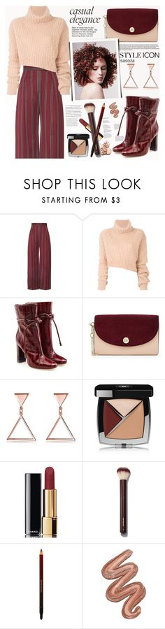 """""""Casual elegance by sasoza"""" by sasooza ❤ liked on Polyvore featuring Ann Demeulemeester, Malone Souliers, Diane Von Furstenberg, Chanel and Violet Voss"""