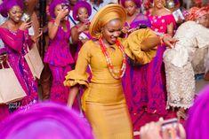 Engagement spotlighted Yoruba Tradition in the Best Way Bellanaija Weddings, Burgundy Color, Love Is Sweet, Wedding Shoot, Videography, Spotlight, Backdrops, Vibrant Colors, Vintage Fashion