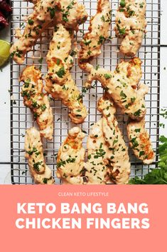 Keto Bang Bang Chicken Fingers - New Site Low Carb Keto, Low Carb Recipes, Cooking Recipes, Healthy Recipes, Protein Recipes, Healthy Eats, Schnitzel Hawaii, Poulet Keto, Bang Bang Chicken