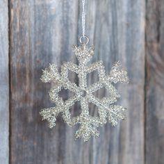 Tinsel Snowflake Ornament