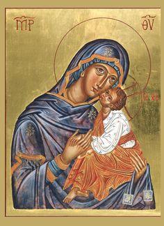 Fecioara Maria de pe Muntele Carmel într-o reprezentare de tip bizantin, destul de îndepărtată de prototip. /-/-/ Our Lady of Mount Carmel in a Byzantine rendition rather estranged from the prototype.