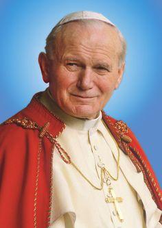 Juan Pablo II (en latín: Ioannes Paulus II), de nombre secular Karol Józef Wojtyła4 ( *Wadowice, Polonia, 18 de mayo de 1920 + Ciudad del Vaticano, 2 de abril de 2005).Festividad: 22 de octubre. Patronazgo: Jornada Mundial de la juventud y familias.