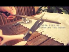 "Most of the instructions I found for sharpening scissors say that cutting aluminium foil would work. Other say you should ""cut"" smooth cylinders such as glass bottles. And yet others tell you to use sandpaper. Almost all of the instructions I found were for paper scissors. I need my scissors to cut fabric.    I found a really good method to sharpe..."