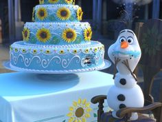 Olaf in Frozen Fever! << I am Olaf. Olaf is me. I am one with the cake and Olaf!