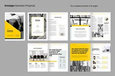 Ad: Kreatype Proposal by Kreatype Studio on The Business Proposal, clean and creative template. This layout is suitable for any project purpose, very easy to use, edit and customize to Creative Brochure, Ads Creative, Brochure Design, Brochure Template, Brochure Ideas, Booklet Design, Design Templates, Creative Ideas, Case Study Template