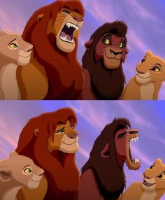 The looks Simba and Kovu give each other - CUTE