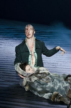 Benedict Cumberbatch and Jonny Lee Miller in Frankenstein. I WANT TO SEE THIS