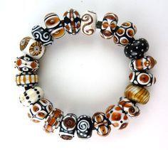 Corinabeads -Lampwork beads by Corina Tettinger - Glas - Schmuck Beaded Earrings, Beaded Jewelry, Handmade Jewelry, Beaded Bracelets, Bead Jewellery, Earrings Handmade, Polymer Beads, Lampwork Beads, Jewelry Tree