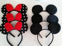 Check out this item in my Etsy shop https://www.etsy.com/listing/222725466/mickey-ears-minnie-ear-in-sold-black-red