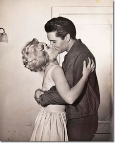 Tuesday Weld and Elvis Presley - Wild In The Country (Another co-star Elvis dated during and after the shooting of the film).