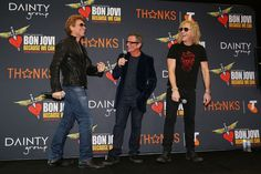 Jon Bon Jovi, Tico Torres & David Bryan- Bon Jovi Press Conference