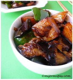 Chinese DiSanXian (Eggplant with potatoes and green peppers)