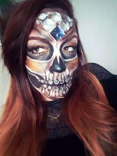 Diamond Sugar Skull ... Halloween Makeup by @Nici.Blush