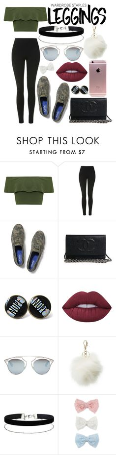 """""""wardrobe staples"""" by skykitten ❤ liked on Polyvore featuring WearAll, Topshop, Keds, Lime Crime, Christian Dior, Charlotte Russe, Miss Selfridge, Decree, Leggings and WardrobeStaples"""