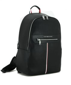 Business Rucksack Tommy Hilfiger Downtown Backpack black Lederoptik Business Rucksack, Laptop Rucksack, Black Backpack, Leather Backpack, Nylons, Tommy Hilfiger, Backpacker, Sport, Fashion Backpack