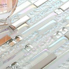 Aliexpress.com : Buy Interlocking Rainbow Crystal Glass Mosaic tile Metal Strip 13 Beveled Diamond kitchen backsplash bathroom stair porch wall deco from Reliable diamond wall suppliers on MuseDesign Mosaic Store