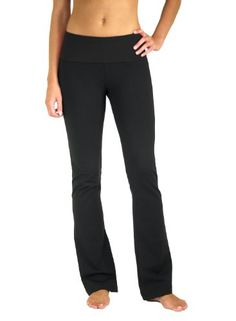 5021BKX31 Flared leg fold over waistband yoga pants * You can get additional details at the image link.
