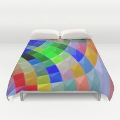 Buy ultra soft microfiber Duvet Covers featuring Rainbow Rays by lillianhibiscus. Hand sewn and meticulously crafted, these lightweight Duvet Cover vividly feature your favorite designs with a soft white reverse side.