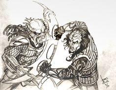 Predator Vs. Klingon by Jimmy-B-Deviant.deviantart.com on @deviantART