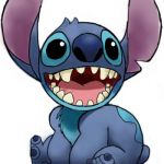Finished Colorized Stitch Cartoon
