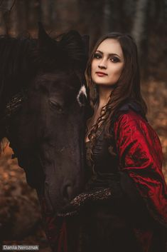 Olga and Erica by Danila-Neroznak Medieval Noblewoman with Horse