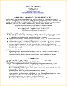 profile on a resume example