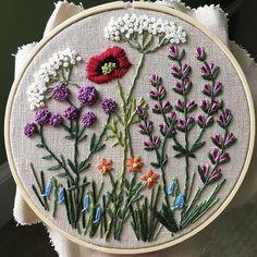 Wildflowers on linen.