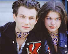 Young Milla Jovovich and Christian Slater:Huffs