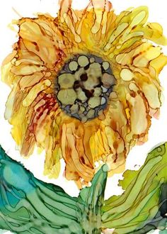 """Sunflower 1"" - Original Fine Art for Sale - © by Kristen Dukat"