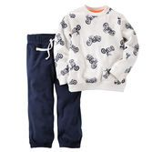 Motorcycle toddler outfit for my lil man.  Cute and comfy, this French terry set is perfect for downtime or playtime.