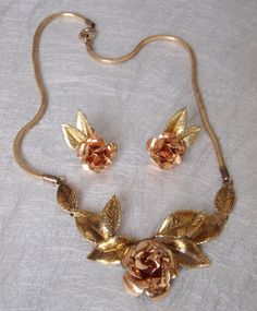 A substantial retro deco necklace and earrings set. £70 plus shipping