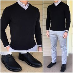 Black and Gray Tuesday ⬛️ That's what the weather was like here today. Dark, gray, and cold. Traje Casual, Casual Wear, Casual Outfits, Men Casual, Fashion Outfits, Fashion Tips, Men's Outfits, Fashion Fashion, Fashion Ideas