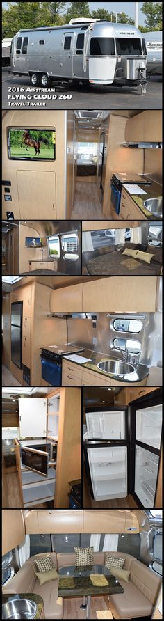 "2016 AIRSTREAM FLYING CLOUD 26U Travel Trailer. When it comes to locating an ""iconic"" travel trailer one has to look no further than the Airstream name. The Flying Cloud is designed to help make any type of adventure, from cross-country to international vacations, a truly enjoyable experience. Every component and feature on the Flying Cloud has an operative purpose and every portion of the Flying Cloud is designed to be indestructible for years of use."