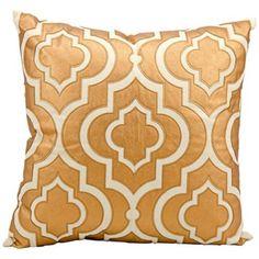 "Mina Victory Luminescence Copper 20"" Square Pillow"
