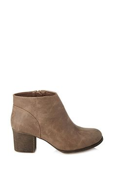 Classic Faux Leather Booties | FOREVER21 - 2000124277