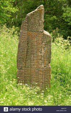 Viking rune stone with Christ Stock Photo Mayan Symbols, Viking Symbols, Egyptian Symbols, Viking Runes, Ancient Symbols, Native American Symbols, Native American History, American Indians, Ancient Artefacts